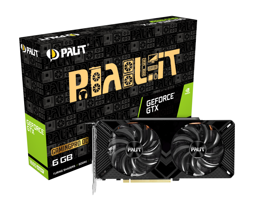 PALIT GTX1660 SUPER GAMING PRO OC 6GB GDDR6 192 BIT DVI HDMI DP [DUAL FAN]