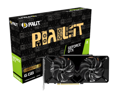 PALIT GTX1660 SUPER GAMING PRO OC 6GB GDDR6 192 BIT DVI HDMI DP [DUAL FAN]