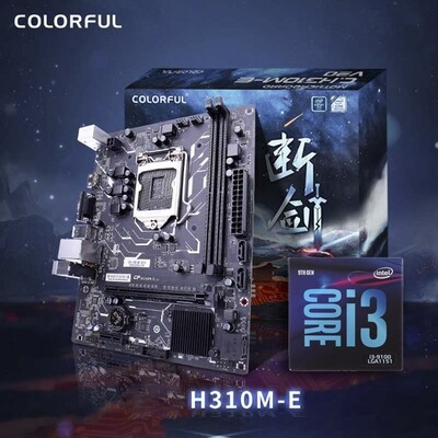 Intel Core i3-9100 Coffee Lake 4-Core 3.6 GHz (4.2 GHz Turbo) +  Colorful H310M-E Motherboard Bundle