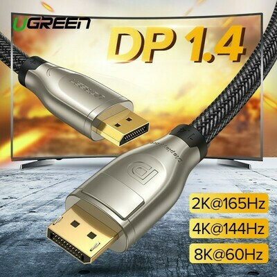 UGREEN DisplayPort 1.4 Cable 2 Meters 8K 4K HDR 165Hz 60Hz Display Port Adapter Cable 4.9