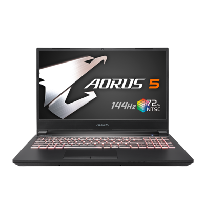 Aorus 5 Gigabyte - Core I7 - 10750H - 10th generation, GTX-1660TI -6gb ddr6 , 15.6 inch FHD 144HZ - 100% SRGB, 8gb ram, 512gbSSD, License Windows 10 Home, Backlit Keyboard