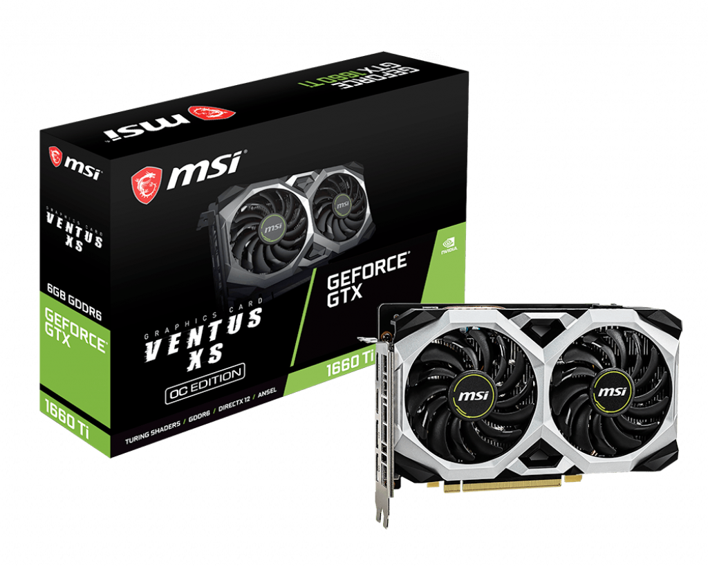 MSI GEFORCE GTX 1660 TI VENTUS XS 6G OC GDDR6 Video Card