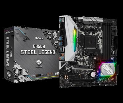 ASRock B450M STEEL LEGEND - AM4 Ryzen Micro-ATX Motherboard