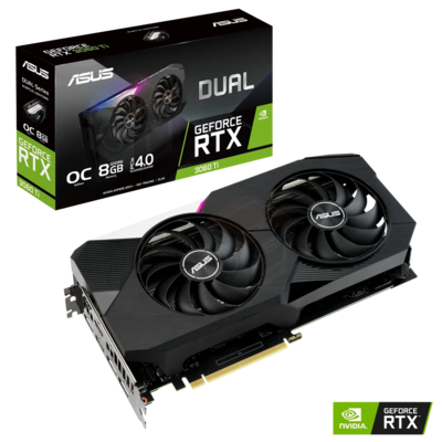 ASUS DUAL OC Gaming GeForce RTX 3060 Ti 8GB 256-Bit GDDR6 PCI Express 4.0 HDCP Ready Video Card
