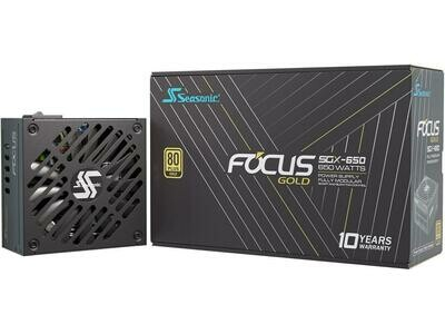 Seasonic FOCUS SGX-650, 650W 80+ Gold, Full-Modular, SFX-L Form Factor, Compact Size, Fan Control in Fanless, Silent, and Cooling Mode Power Supply