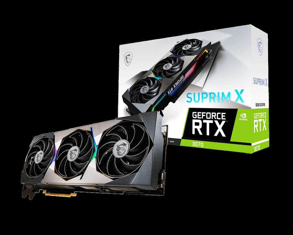 MSI GeForce RTX 3070 SUPRIM X 8GB 256-Bit GDDR6 Video Card