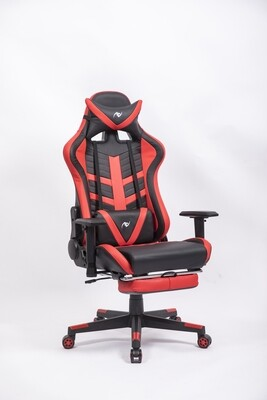 AndyGaming Red Gaming Chair w/ Footrest
