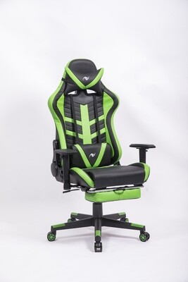 AndyGaming Green Gaming Chair w/ Footrest