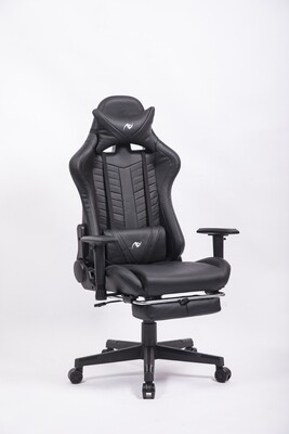 AndyGaming Black Gaming Chair w/ Footrest