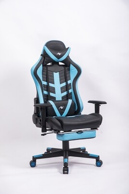 AndyGaming Blue Gaming Chair w/ Footrest