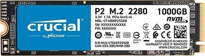 Crucial P2 1TB 3D NAND NVMe PCIe M.2 SSD