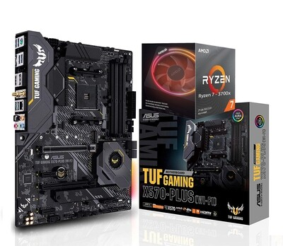 AMD RYZEN 7 3700X 8-Core 3.6 GHz (4.4 GHz Max Boost) + Asus TUF Gaming X570-Plus (Wi-Fi) ATX Motherboard Bundle
