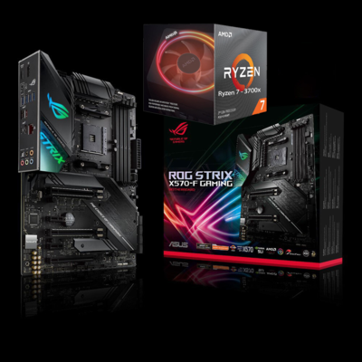 AMD RYZEN 7 3700X 8-Core 3.6 GHz (4.4 GHz Max Boost) + Asus ROG Strix X570-F Gaming ATX Motherboard Bundle