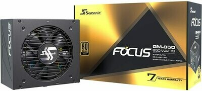 Seasonic Focus GM-850, 850W 80+ Gold, Semi-Modular, Fits All ATX Systems, Fan Control in Silent and Cooling Mode
