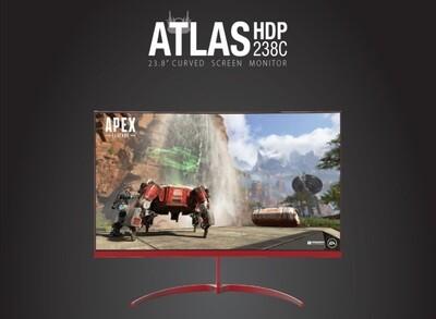 "GAMDIAS ATLAS HDP238C 24"" CURVED 165HZ FREESYNC/GSYNC COMPATIBLE HDMI DP"