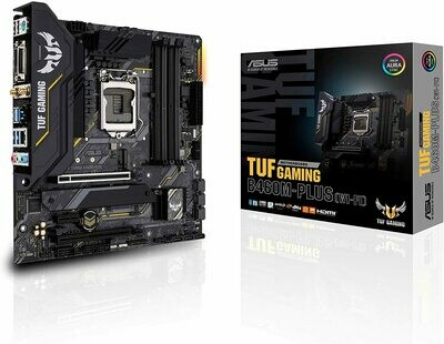 ASUS TUF Gaming B460M-Plus WiFi 6 LGA1200 (Intel 10th Gen) Micro ATX Gaming Motherboard (Intel 1Gb LAN, USB 3.2 gen 1 Front Panel Connector, addressable Gen 2 RGB Header, Aura Sync)