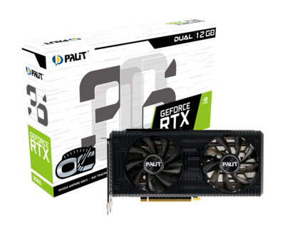 PALIT GeForce RTX™ 3060 DUAL OC Edition 12GB 192-Bit GDDR6 PCI Express 4.0 HDCP Ready Video Card