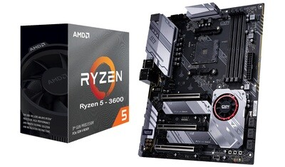 AMD RYZEN 5 3600 6-Core 3.6 GHz (4.2 GHz Max Boost) + COLORFUL X570 GAMING PRO V14 Motherboard Bundle