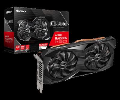 ASRock Radeon™ RX 6700 XT CHALLENGEDER D 12G GDDR6 Video Card