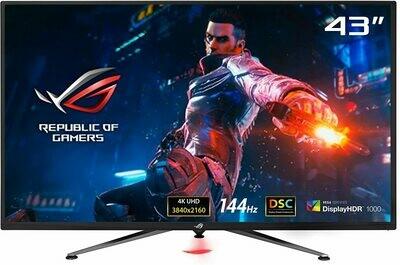 "ASUS ROG Swift PG43UQ 43"" 4K HDR DSC Gaming Monitor   144Hz, G-SYNC Compatible, Eye Care, Display HDR 1000"