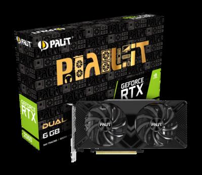 PALIT GeForce® RTX 2060 DUAL 6GB GDDR6 192bit Video Card