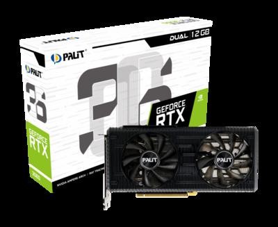 PALIT GeForce RTX™ 3060 DUAL Edition 12GB 192-Bit GDDR6 PCI Express 4.0 HDCP Ready Video Card