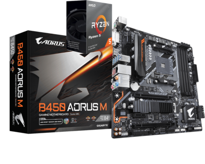 AMD RYZEN 5 3500 6-Core 3.6 GHz (4.1 GHz Max Boost) + AORUS B450M Motherboard Bundle