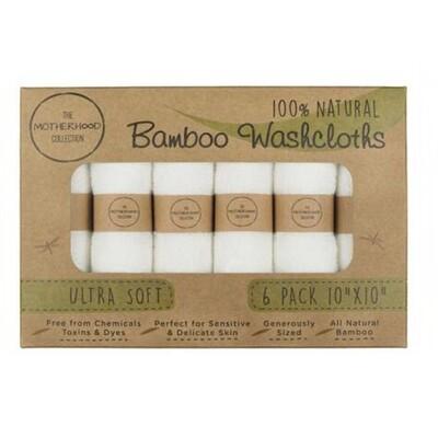Kit de 6 Gants de toilette 100% bambou, débarbouillettes pour bébé