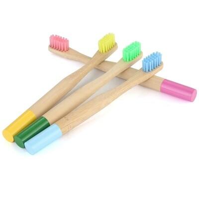 Brosse à dents naturelles en bambou pour enfant