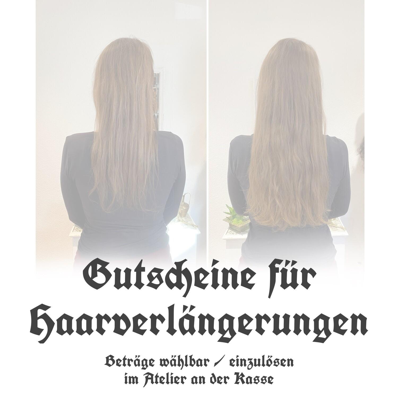 Gutscheine für Haarverlängerung / Haarverdichtung