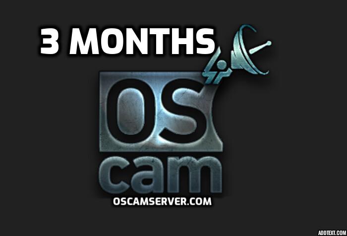 Oscam 3 Months