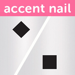 Accent Nail Squared Away (Transparente)
