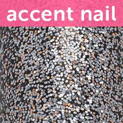 Accent Nail Silver Bells