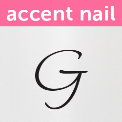 Accent Nail Initial G (Transparente)