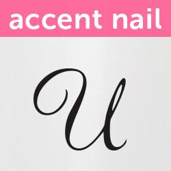 Accent Nail Initial U (Transparente)