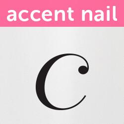 Accent Nail Initial C (Transparente)