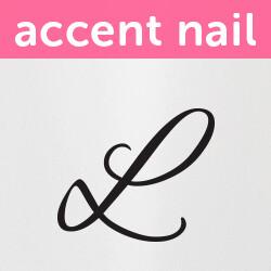 Accent Nail Initial L (Transparente)