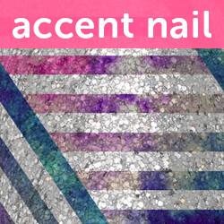 Accent Nail Sparkle Stripes