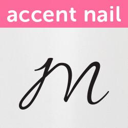 Accent Nail Initial M (Transparente)