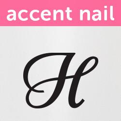 Accent Nail Initial H (Transparente)