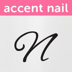 Accent Nail Initial N (Transparente)