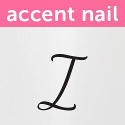 Accent Nail Initial I (Transparente)