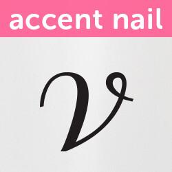 Accent Nail Initial V (Transparente)