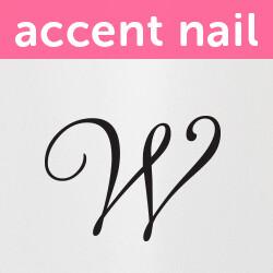 Accent Nail Initial W (Transparente)