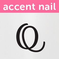 Accent Nail Initial Q (Transparente)