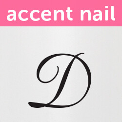 Accent Nail Initial D (Transparente)