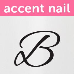 Accent Nail Initial B (Transparente)