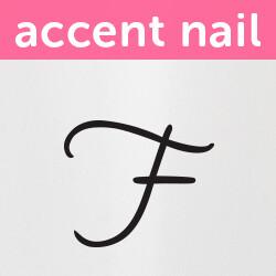 Accent Nail Initial F (Transparente)