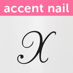Accent Nail Initial X (Transparente)