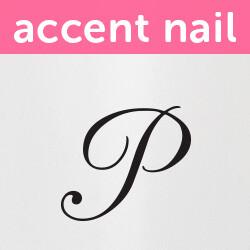 Accent Nail Initial P (Transparente)